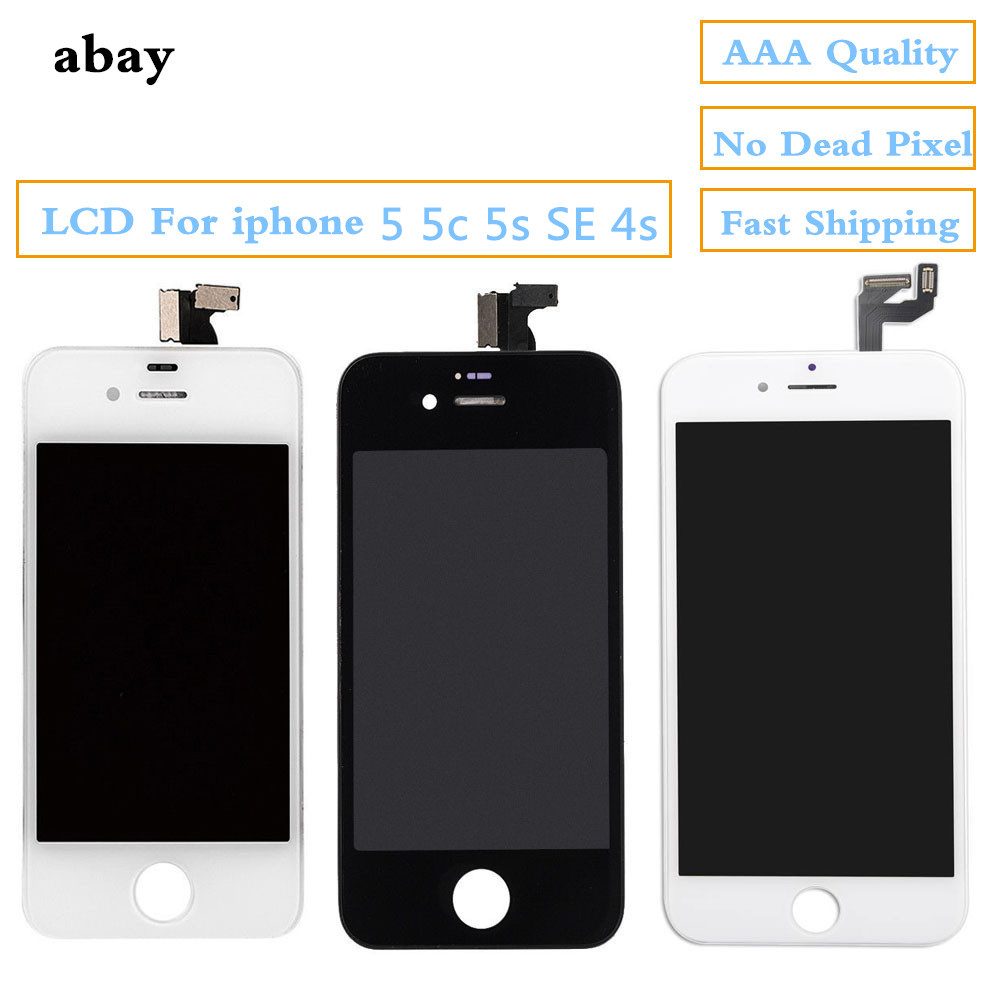 LCD <font><b>Display</b></font> Für <font><b>iphone</b></font> <font><b>5</b></font> 5s se 4s Touch screen Ersatz mit <font><b>Original</b></font> Digitizer für <font><b>iphone</b></font> <font><b>5</b></font> Serie LCD tabelle Panel image