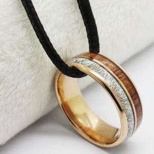Image 5 - ผู้ชาย Classic Love เครื่องประดับอินเทรนด์งานแต่งงานแหวน Rose Rose แหวนทังสเตน Meteorite Inlay หมั้นแหวน