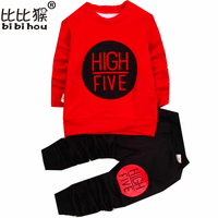 Children Sets Baby Girls Boys Clothing Set Thick Warm Cute Letter Suit Kids Winter Long