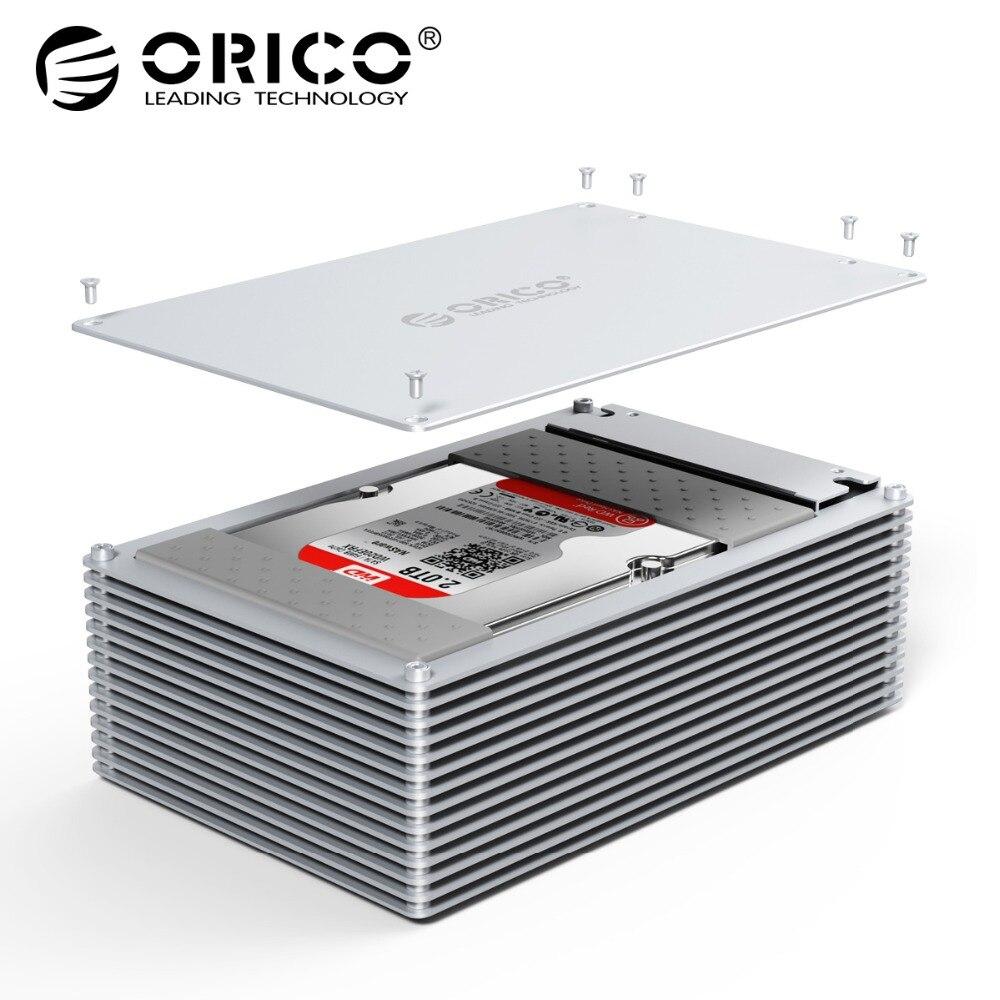 ORICO HDD Cas Type-C DIY Creux 2.5/3.5 pouce Disque Dur Boîtier En Alliage D'aluminium Avec 12 v l'UE Alimentation Soutien 20 tb Capacité