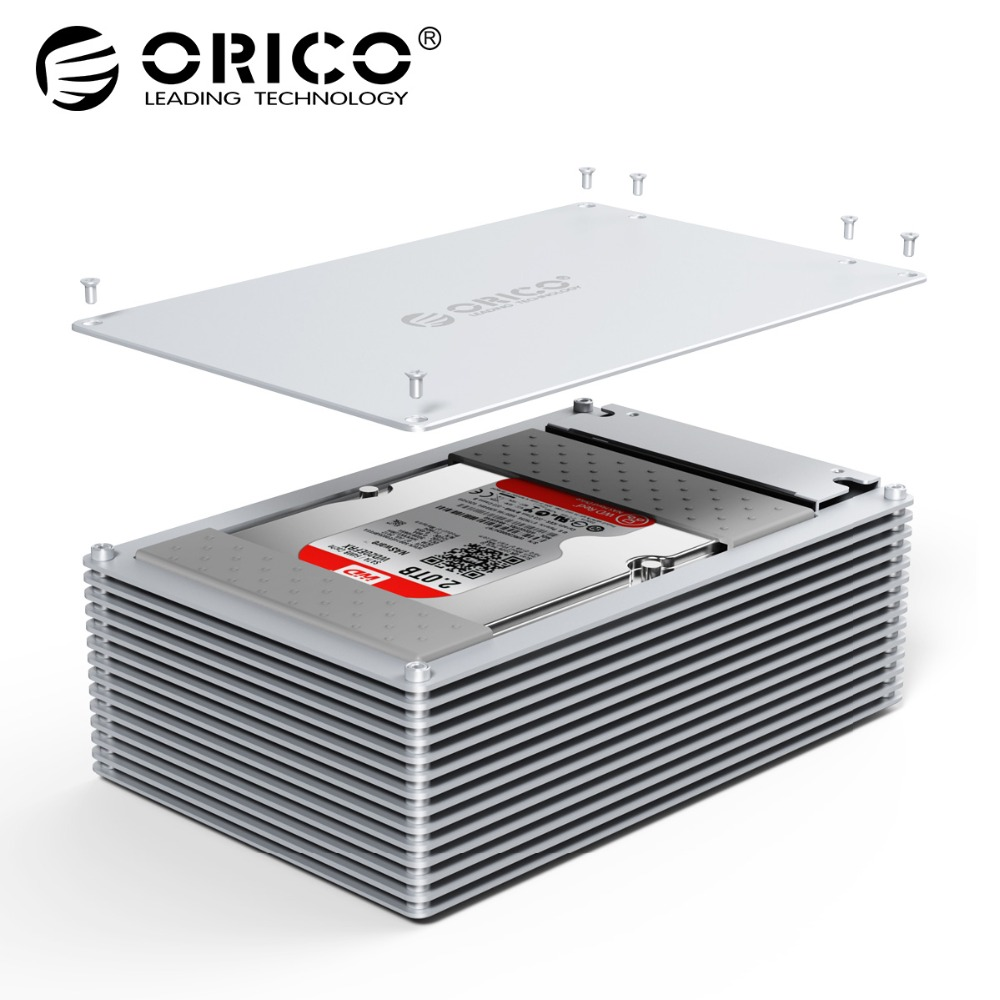 Orico Hdd Case Type C Diy Hollow 25 35 Inch Hard Drive Enclosure Aluminum Alloy With