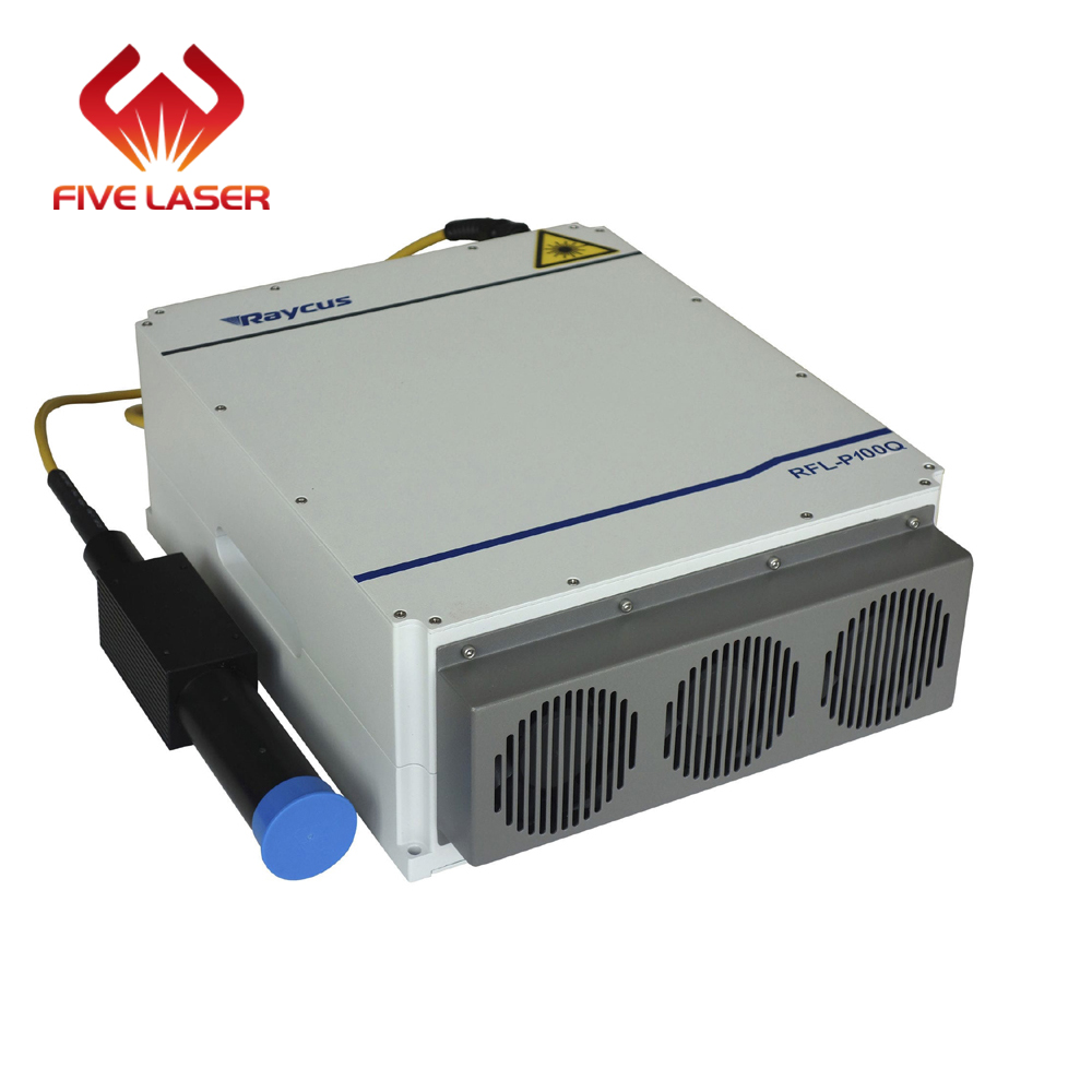 <font><b>100w</b></font> Raycus fiber <font><b>laser</b></font> source for deep engraving & thin metal cutting of fiber <font><b>laser</b></font> marking machine image