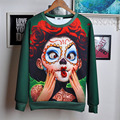 2016 Casual Hoodies 3d Print Joker Face Pokemon Letters Brand Design Men's and Women's Sweatshirts Long Sleeve Pullover Sudadera