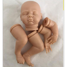 17inch Simulation baby dolls DK-80 Handmade Doll Accessory DIY Model Vinyl Kits Silicone Reborn Doll Kit Baby Doll Body Parts dk 10 silicone reborn baby doll kit accessories diy vinyl baby doll mold lifelike handmade doll kit for kids diy sleeping doll