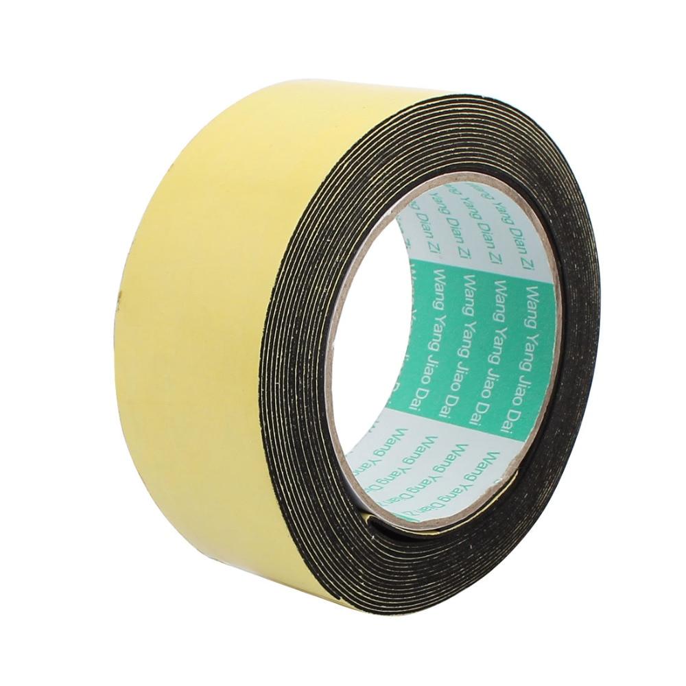 Uxcell 5M 10/15/45mm Single Sided Sponge Tape Adhesive Sticker Foam Glue Strip Sealing Sponge Foam Rubber Strip Neoprene Tape