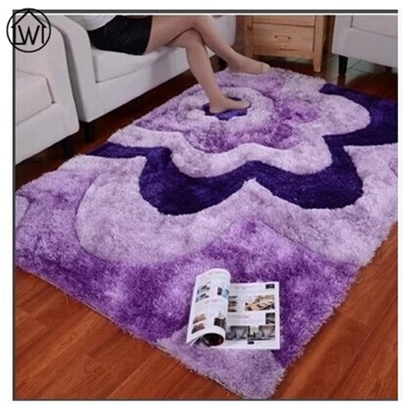 Large size carpet retro european 3d pattern area rugs for Area rug size for living room