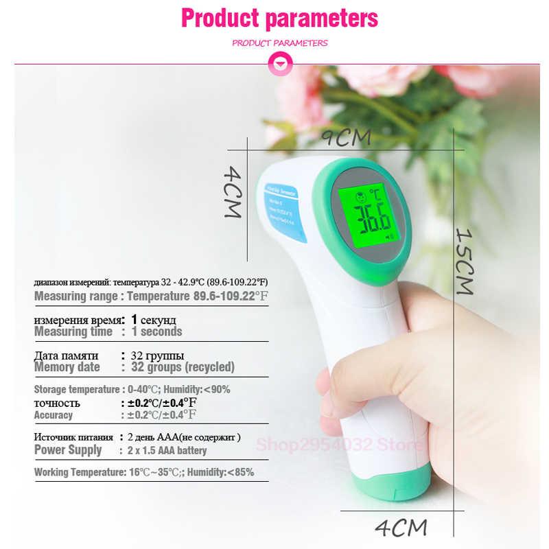 Termometr cyfrowy podczerwień dziecko dorosły czoło bezdotykowy termometr na podczerwień z podświetlenie lcd Termometro Infravermelh
