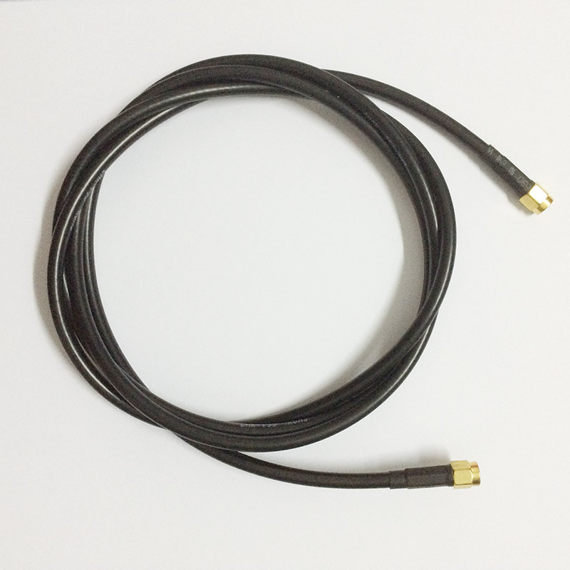 ALLISHOP RG58 RP-SMA mâle à SMA mâle Pigtail Jumper RF câble coaxial 50ohm haute qualité 20 M