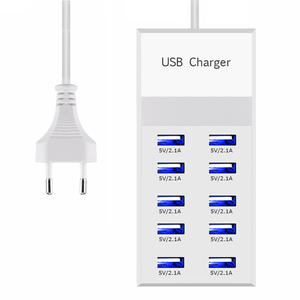 Image 1 - Powstro 10 USB stacja ładująca Splitter 60 W telefon komórkowy ładowarka HUB inteligentny układ scalony ładowania uniwersalny dla iPhone Samsung Mp3 Tablet itp