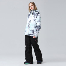 купить Upgrade Snowboarding Suit Winter Snow Jacket Women Ski Suit Waterproof Colorful Clothes Keep Warm Snowboard Sets Skiing Equip в интернет-магазине