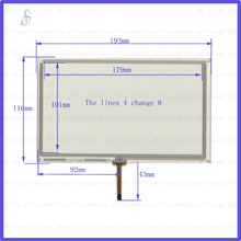 ZYS HLD-TP-2682 compatible touchglass 8inch 4lines resistance screen this is compatible Touchsensor 4change8lines new 4 line xwt624 128mm 37mm this is compatible 128 37 touchsensor freeshipping this is compatible