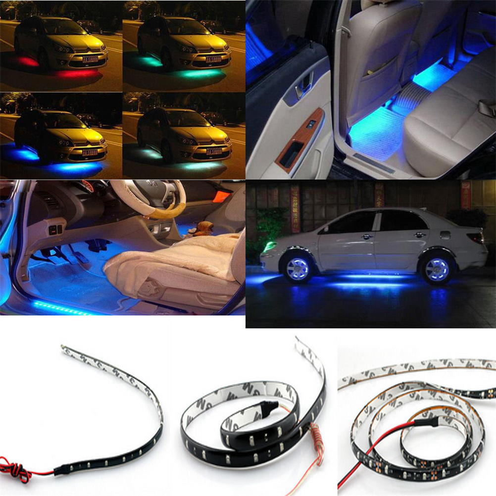 15 LED Car Motors Truck Flexible Strip Light Waterproof 1 Wd Green 4 Pcs 30 cm