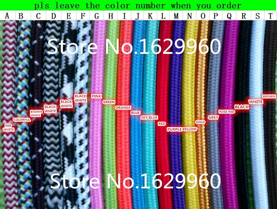 10 meters black color 2 core 075mm2 textile electrical wire color braided wire fabric covered electrical power cord wire cable