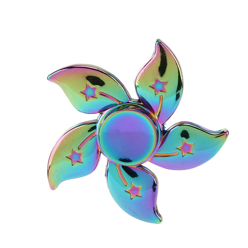 Rainbow Finger Fidget Spinner Metal Redbud Shaped  Hand Spinner For Kids EDC Autism ADHD Anxiety Anti Stress Handspinner Toys infinity cube new style spinner fidget high quality anti stress mano metal kids finger toys luxury hot adult edc for adhd gifts