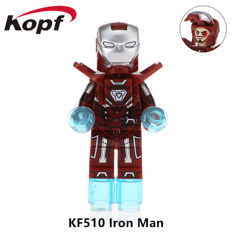 Single Sale Super Heroes Iron Man Kiddo Sally Quico Pablo Picasso Building Blocks Bricks Figures Gift Toys For Children KF510