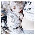 Verão Bebés Meninos Camisetas Engraçadas Impresso Mangas Curtas T-shirt Macio e Confortável Meninas Camiseta Crianças Roupa Infantil Criança Topo