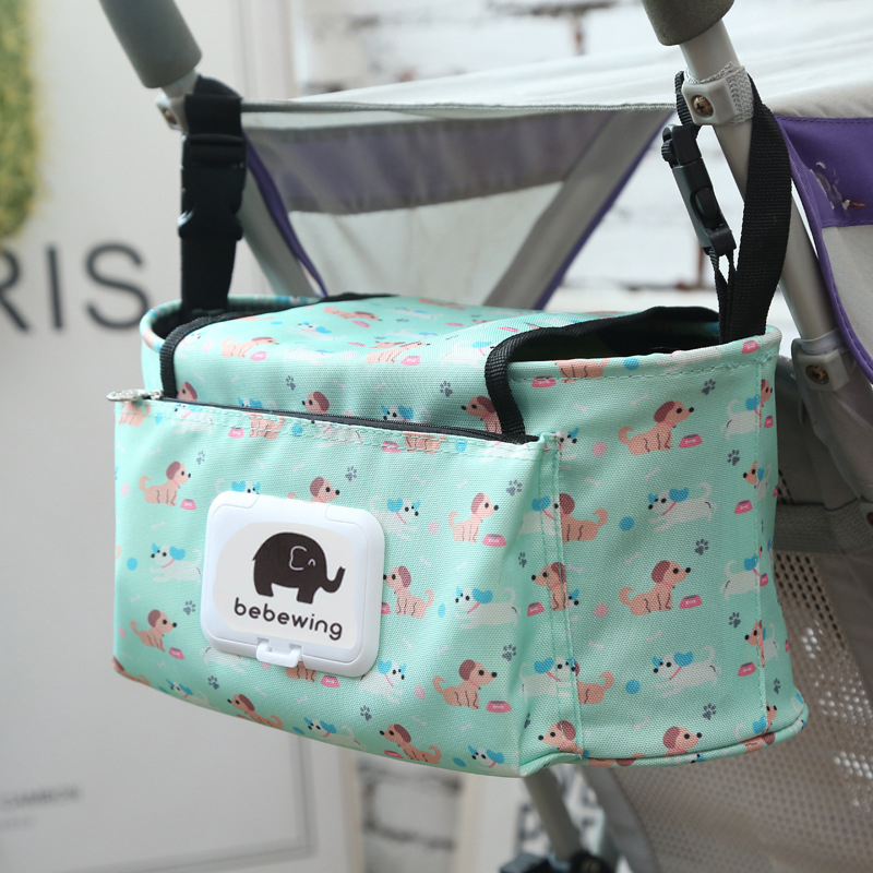 Bolsa con ruedas para bebé con bolso desmontable multifuncional para cochecito de bebé