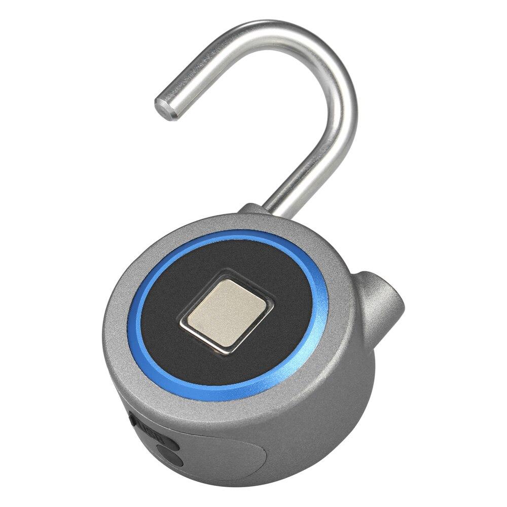 BT Smart Keyless Fingerprint Lock Waterproof APP / Fingerprint Unlock Anti-Theft Security Padlock Door Luggage Case Lock
