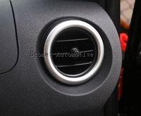 디 2 PCS! 메르세데스-벤츠 VITO 2016 용 자동차 ABS 액세서리 내부 전면 공기 배출구 프레임 트림 스트립 크롬 브릴리언트 플레이트