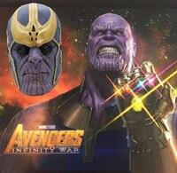 2018 Avengers: Unendlich Krieg Maske Thanos Maske Cosplay Volle Kopf Latex Super Hero Kostüm Halloween Party Prop