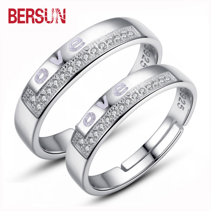 bersun 2017 silver luxury design couple ring valentine s day giftchina mainland