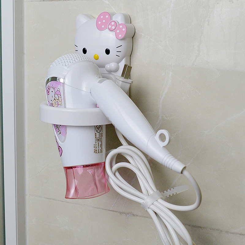 Creative Hello Kitty Bathroom Electric Hair Dryer Hanging Device Without Viscose Wall Mounted Blower Shelf Bedroom Irons HolderCreative Hello Kitty Bathroom Electric Hair Dryer Hanging Device Without Viscose Wall Mounted Blower Shelf Bedroom Irons Holder