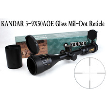 Tactical Optical Sight Gold Edition KANDAR 3-9×50 AOME Glass Mil-dot Reticle Locking RifleScope Hunting Rifle Scope