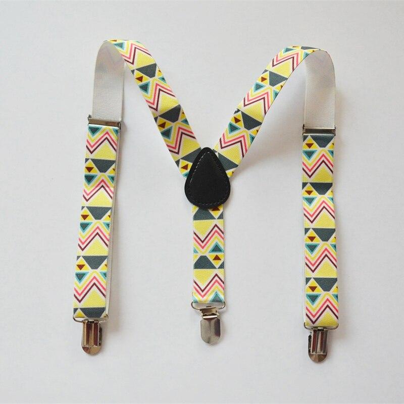 Children Suspenders Baby Boys And Girls suspenders Clip-on Y-Back Braces Elastic kids baby printing Suspenders