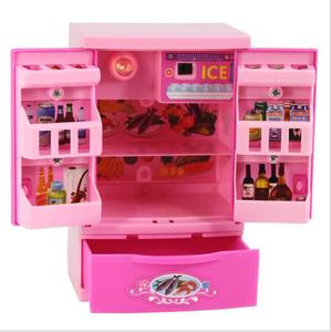 fashion mini accessories fridge for barbie doll dream house Furniture kitchen Refrigerator Play Set 1/6 bjd Doll accessories(China)