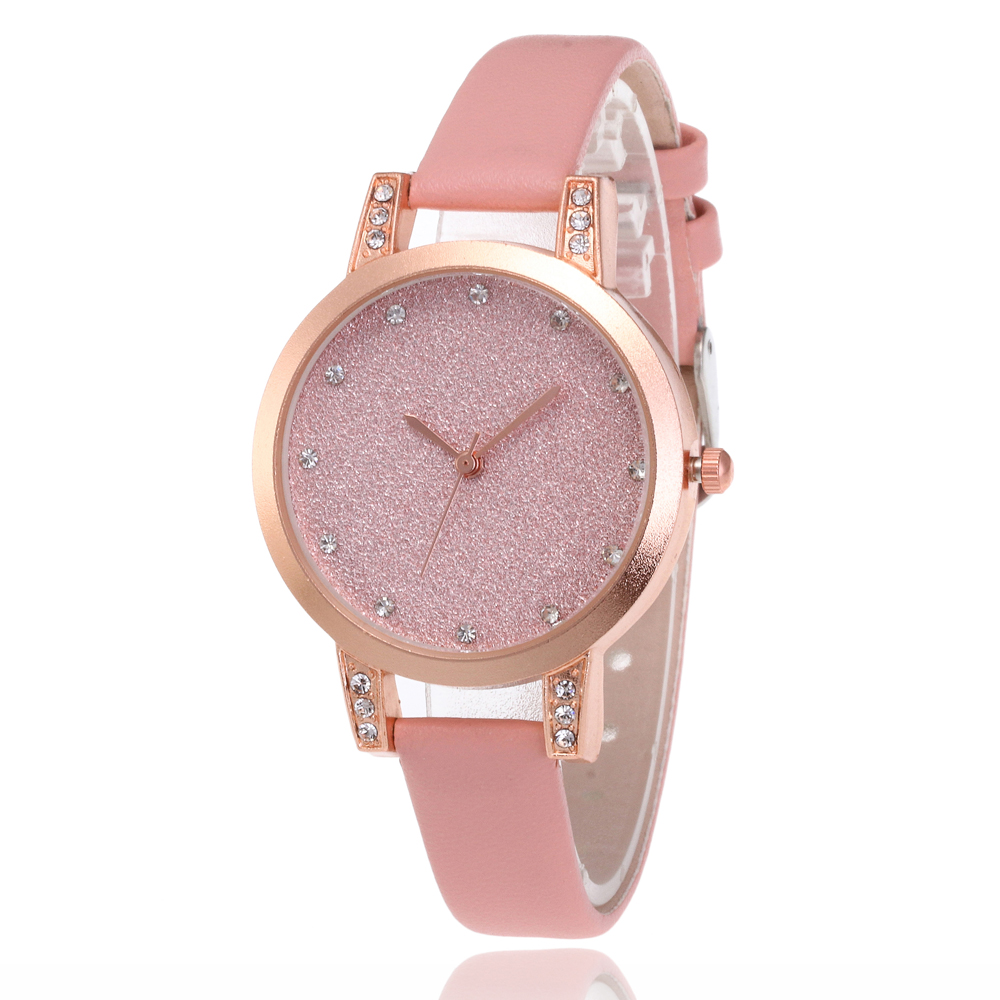 Drop Shipping Exquisite Simple Style Women Watches Luxury Fashion Crystal Glitter Quartz Wrist Watches Women Clocks Montre Femme