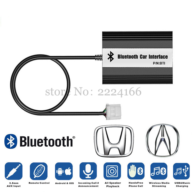 SITAILE Car Bluetooth A2DP MP3 Music Adapter for Honda Accord Civic CRV Acura CSX MDX RDX Interface USB Charger Part Car styling