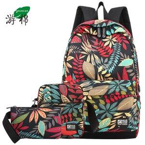 Image 1 - Mochila escolar de viagem para meninos, bolsa grande com estampa para estudantes à prova dágua