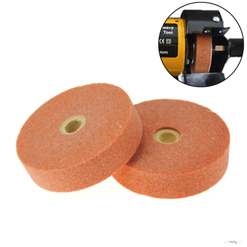 YEODA 1pcS 70mm 3 Inch Polishing Grinding Stone Wheel Polishing Pad Abrasive Disc For Bench Grinders Metal Working Rotary Tool