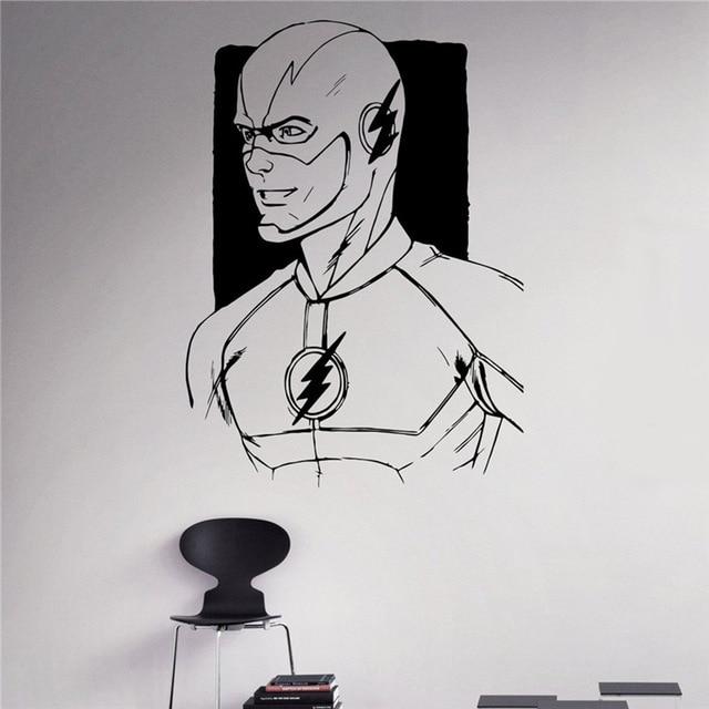 decalque da parede do vinil do decalque quadrinhos de super heróis