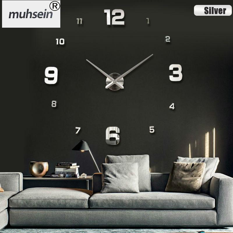 nueva decoracin del hogar del reloj de pared grande reloj de pared del espejo diseo
