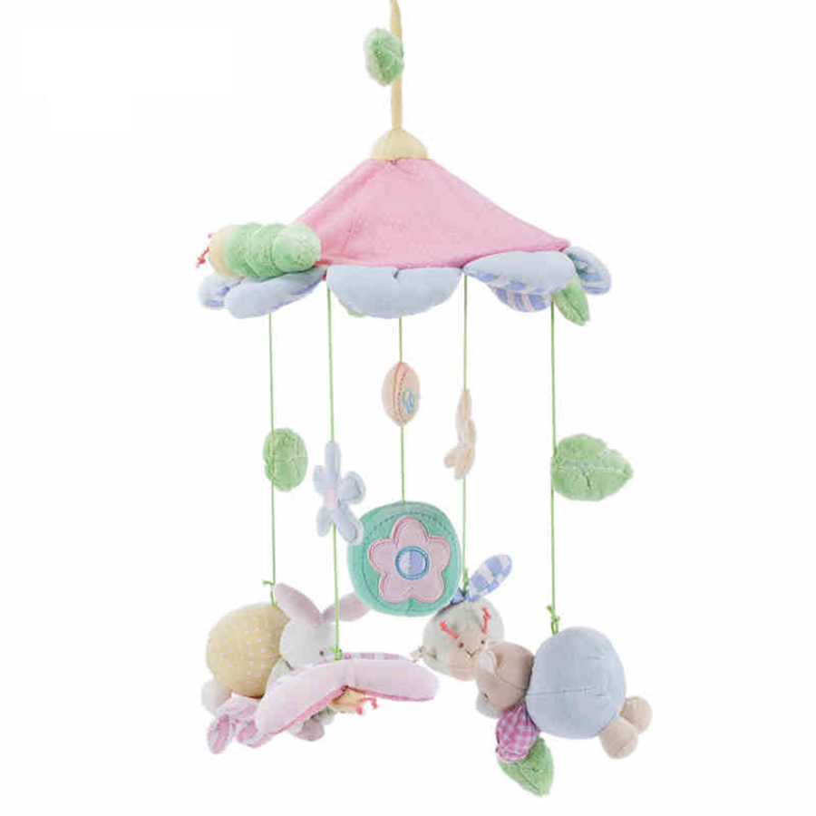 Baby bed mobile - Baby Crib Toys Baby Bed Musical Mobile Bed Wind Bell Plush Stuffed Rabbit 0 12