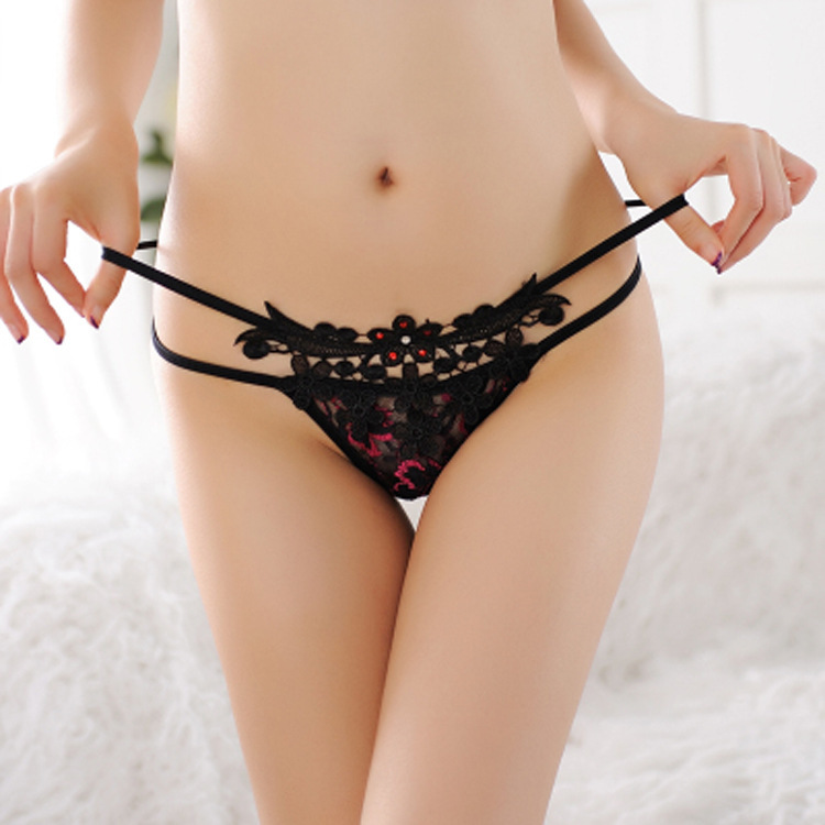Hot women undewear rhinestone thong sexy temptation low waist briefs Nice luxury female underwear T pants briefs panties