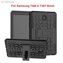 NTSPACE Hybrid PC+TPU Silicone Armor Back Cover For Samsung Galaxy TAB A 2018 T387 8 inch Full Body Shockproof Protective Case стоимость