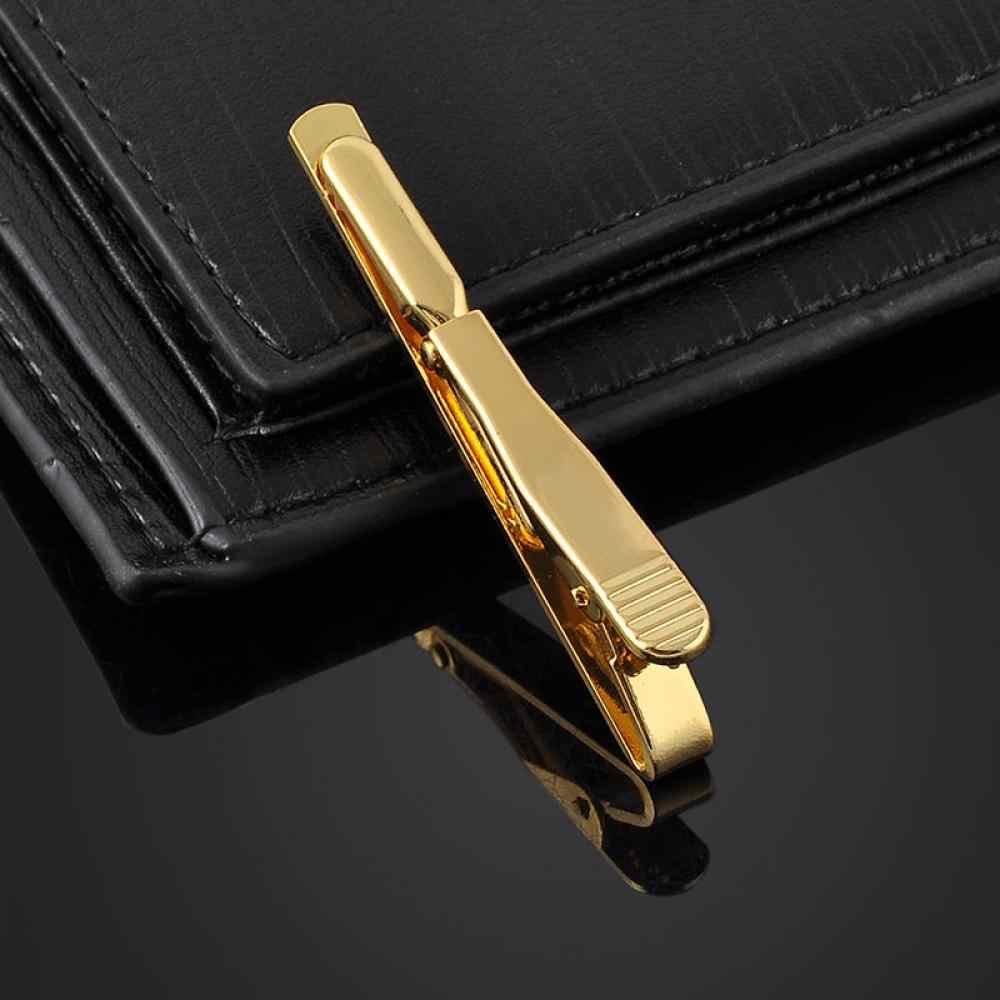 2018 トレンディな男性メタルシルバーゴールドシンプルなネクタイネクタイネクタイバークラスプクリップクランプピンビジネスマンのためのホット販売のギフトハイト品質