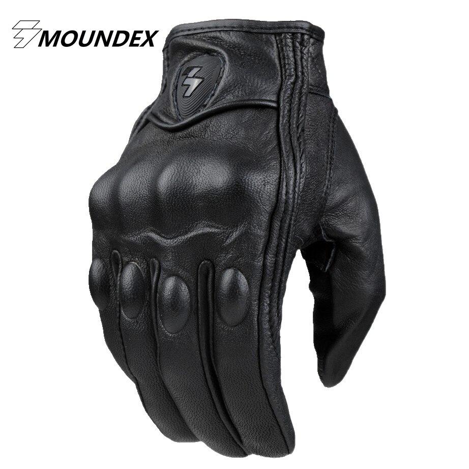 Prix pour Moto guantes luva en cuir racing moto gants plein doigt gant hiver homme femme hors route motocross gants