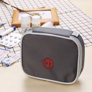 Image 5 - 13*10*4 ซม. น่ารัก Mini แบบพกพายากระเป๋าชุดปฐมพยาบาลทางการแพทย์ฉุกเฉินชุด Organizer กลางแจ้งในครัวเรือน pill กระเป๋า