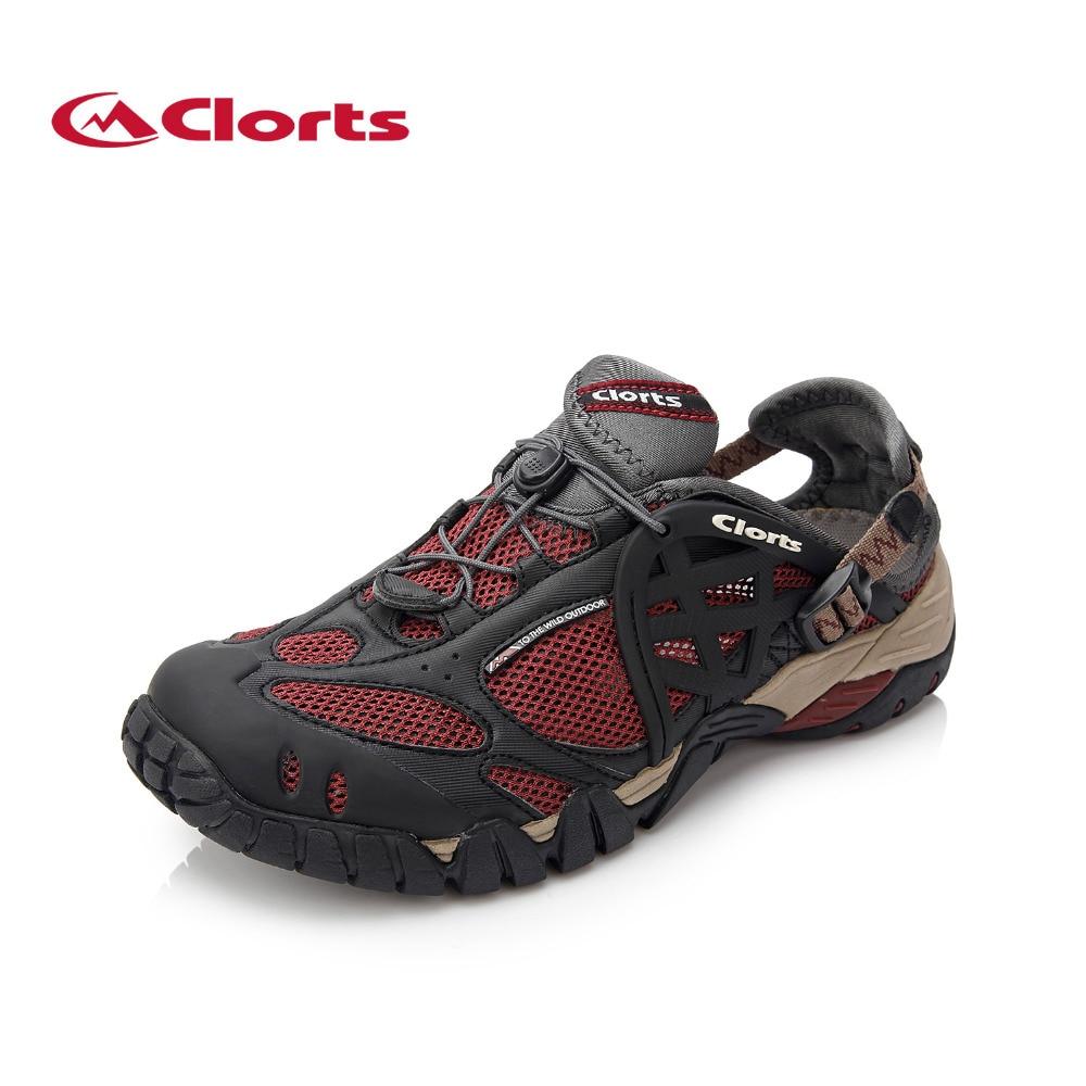 2019 Clorts Hommes Chaussures D'été En Plein Air Plage Chaussures D'eau Aqua Respirant Chaussures À Séchage Rapide PU Maille Pour Hommes Livraison gratuite WT-05B