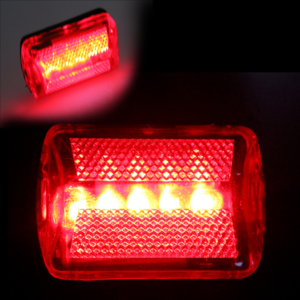 Waterproof Bike Bicycle 5 LED bike light Tail Light Lamp Bulb Red Back Safety Warning Flashing Lights Reflector Accessories