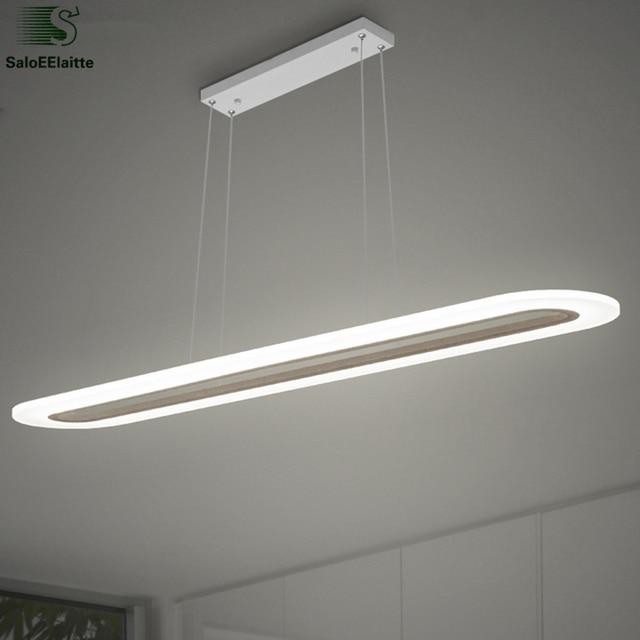 Modern Minimalisme Led Acryl Dimbare Hanglamp Eetkamer Aluminium ...