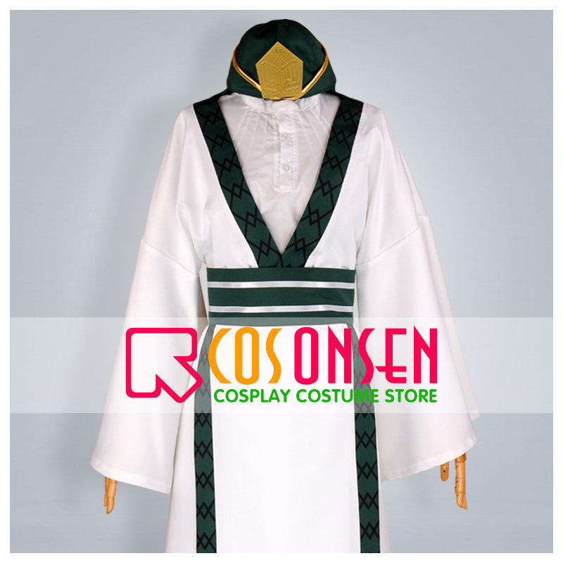 COSPLAYONSEN Magi The Labyrinth of Magic Ja'far Cosplay Costume All Sizes Custom Made+Hat