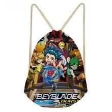 ThiKin Anime Beyblade Burst Evolution Printing Children Drawstring Bags for Boys Japanese Small Backpacks Cartoon Mochila