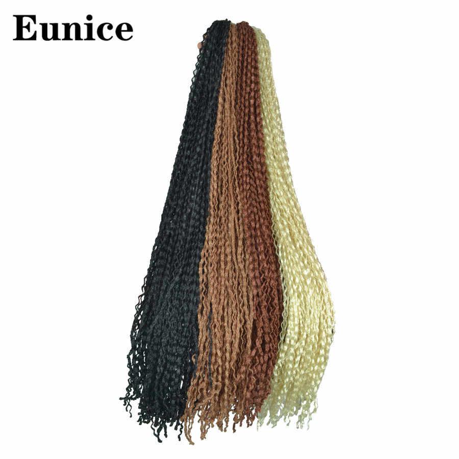Zizi Kepang Crochet Kotak Kepang Twist Sintetis Mengepang Rambut Ekstensi 25-32 Akar/Pack Putih Merah Muda Ungu Bug gray 613 Eunice