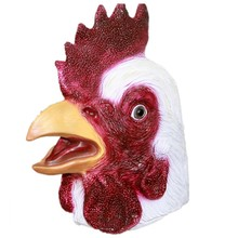 The highest selling Fancy Dress Ideal Classic Realistic Animal Latex Chicken Mask for Halloween props