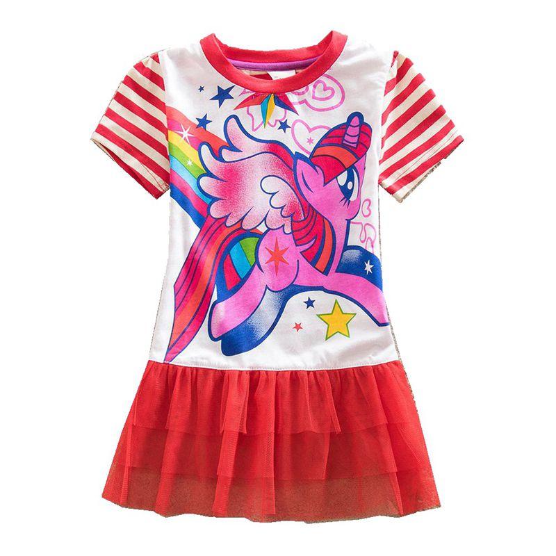 Little Pony Princess Dress Girl Clothes Summer