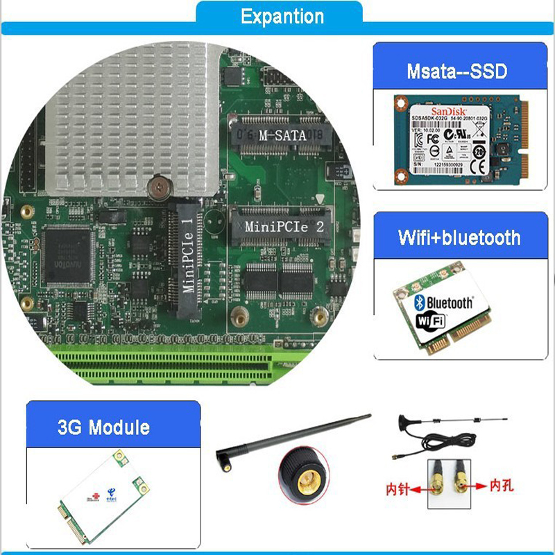 Image 4 - hot sale Intel core I7 3610QM CPU with 2xPCI slot Fanless Mini ITX industrial Motherboard for pos terminal-in Industrial Computer & Accessories from Computer & Office